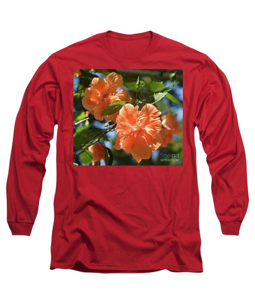 Orange Beauty - Hibiscus Long Sleeve T-Shirt