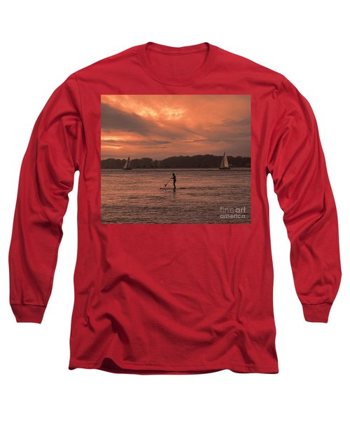 Paddleboarding On The Great Peconic Bay Long Sleeve T-Shirt