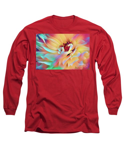 Party Time Dahlia Abstract Long Sleeve T-Shirt
