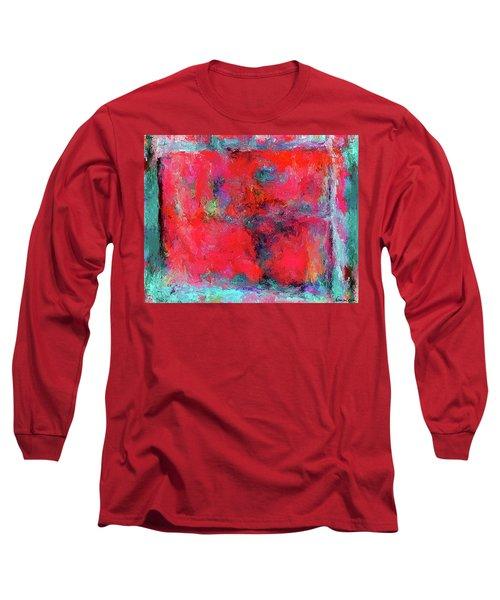 Rectangular Red Long Sleeve T-Shirt