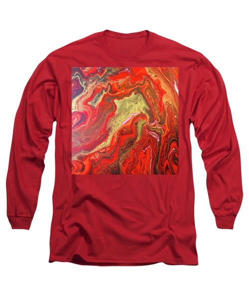 Red And Gold Long Sleeve T-Shirt