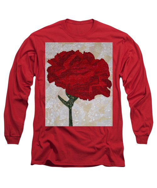 Red Carnation Long Sleeve T-Shirt