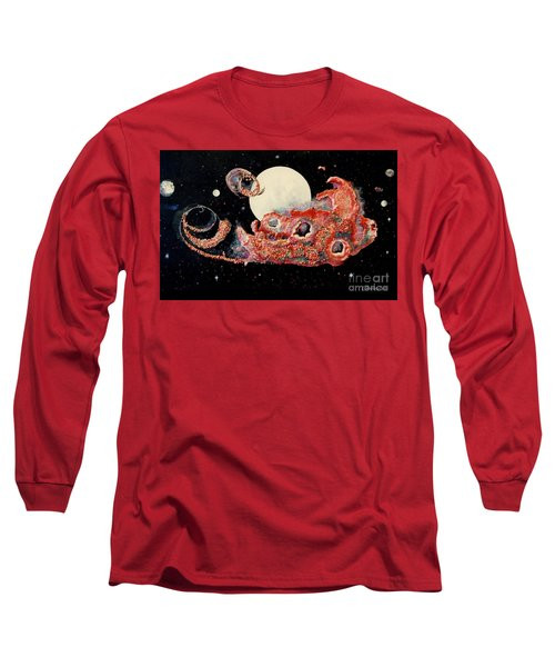Red Nebula Long Sleeve T-Shirt