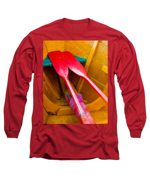 Red Oars Long Sleeve T-Shirt