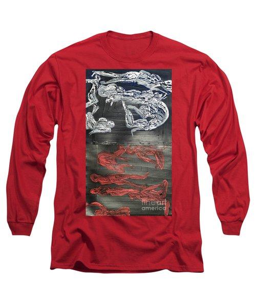 Red Strangles White Cells Long Sleeve T-Shirt