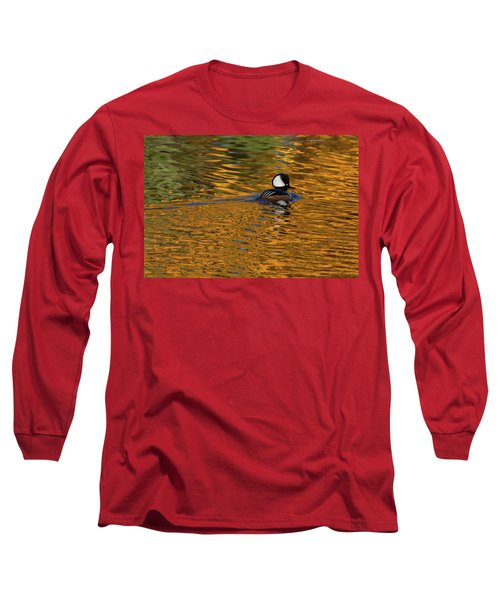 Reflecting With Hooded Merganser Long Sleeve T-Shirt