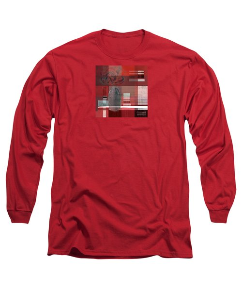 Reflection On A Red Plaid Tablecloth Long Sleeve T-Shirt