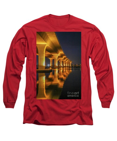 Roosevelt Bridge Portrait Long Sleeve T-Shirt
