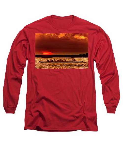 Rowing In The Sunset Long Sleeve T-Shirt