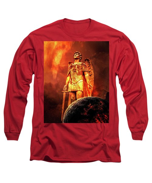 Long Sleeve T-Shirt featuring the photograph Saint Michael by Michael Arend