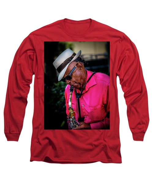 Sax On The Street Long Sleeve T-Shirt
