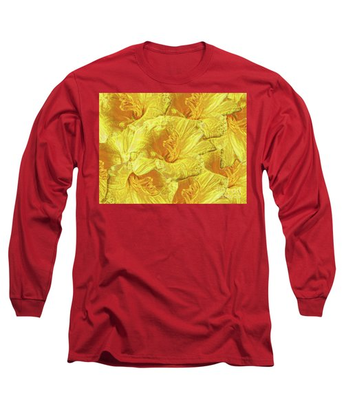 Long Sleeve T-Shirt featuring the photograph Selective Yellow Lilies by Rockin Docks