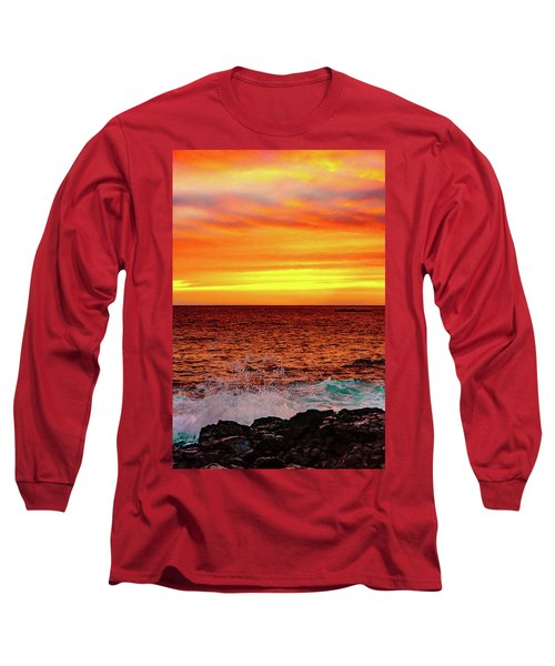 Simple Warm Splash Long Sleeve T-Shirt