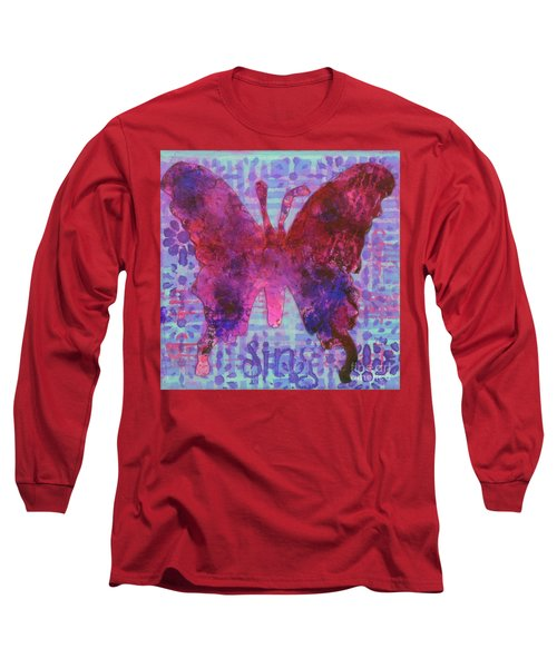 Sing Butterfly Long Sleeve T-Shirt