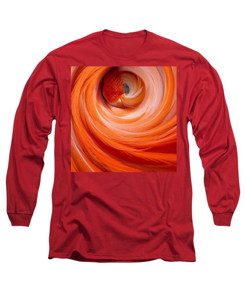 Sleeping Flamingo Long Sleeve T-Shirt