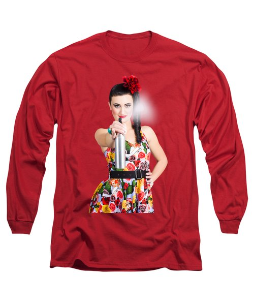 Spray And Wipe Housewife Long Sleeve T-Shirt