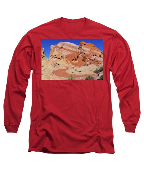 Long Sleeve T-Shirt featuring the photograph Striped Rock by Mary Hone
