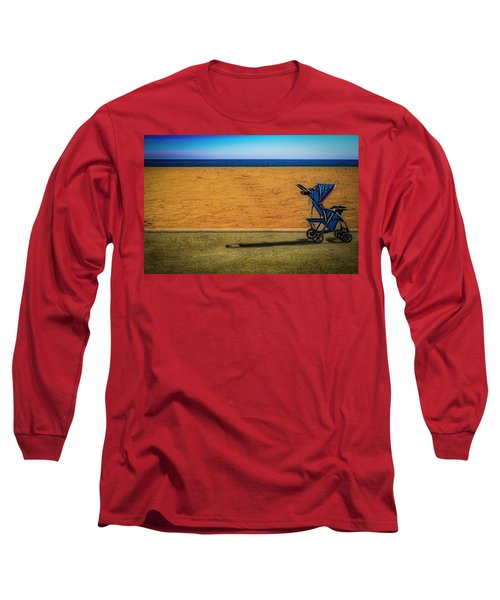 Stroller At The Beach Long Sleeve T-Shirt