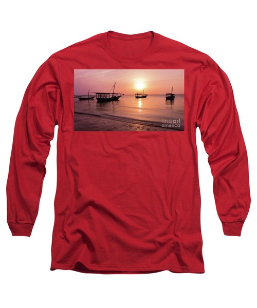 Sunset In Zanzibar Long Sleeve T-Shirt