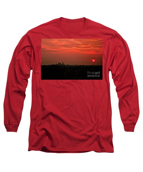 Sunset Over Philly Long Sleeve T-Shirt