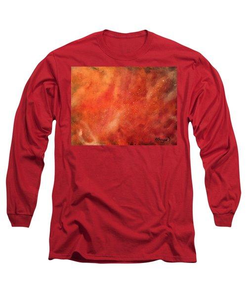 Tangerine Nebula Cloud Long Sleeve T-Shirt