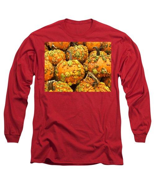 Textured Pumpkins  Long Sleeve T-Shirt