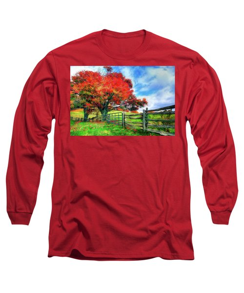 The Beauty Of A Blue Ridge Autumnl Ap Long Sleeve T-Shirt