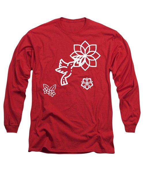 The Kissing Flower On Flower Long Sleeve T-Shirt