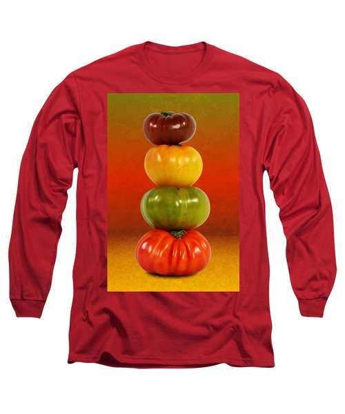 Tower Of Colorful Tomatoes Long Sleeve T-Shirt