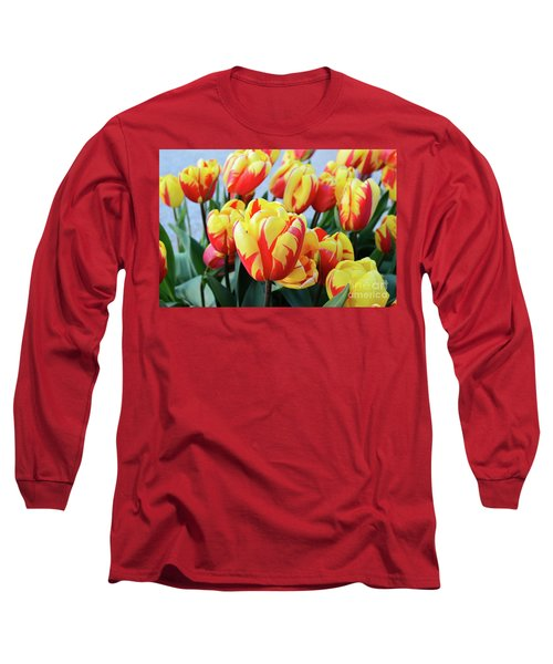 Tulips And Tiger Stripes Long Sleeve T-Shirt