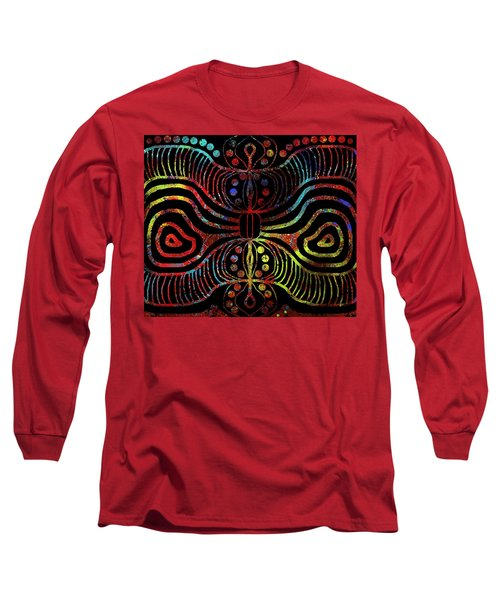 Under The Sea Digital Patterns Of Life Long Sleeve T-Shirt