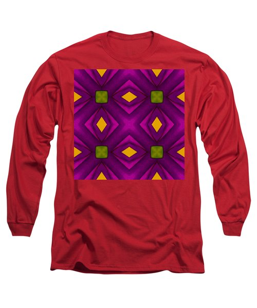 Vibrant Geometric Design Long Sleeve T-Shirt
