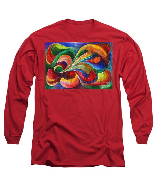 Vivid Abstract Watercolor Long Sleeve T-Shirt