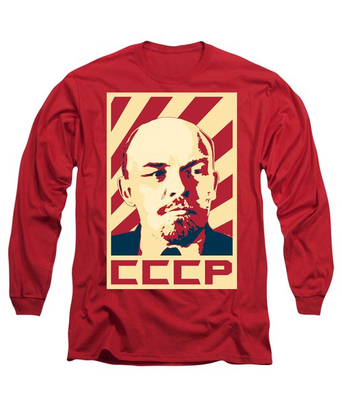 Vladimir Lenin Retro Propaganda Long Sleeve T-Shirt