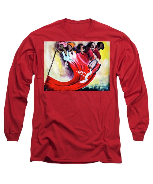 Wall Painting In Fogo, Cape Verde Long Sleeve T-Shirt