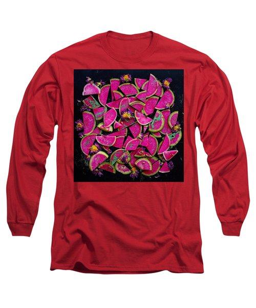 Watermelon Radish Edges Long Sleeve T-Shirt