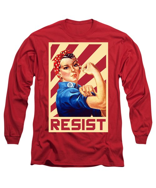 We Can Do It Rosie Resist Long Sleeve T-Shirt