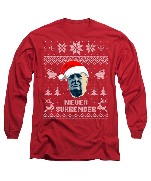 Winston Churchill Never Surrender Christmas Long Sleeve T-Shirt