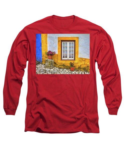 Yellow Window Of Obidos Long Sleeve T-Shirt
