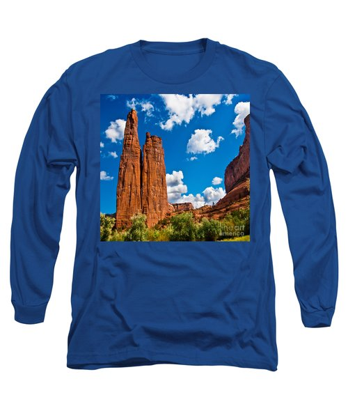 Canyon De Chelly Spider Rock Long Sleeve T-Shirt by Bob and Nadine Johnston