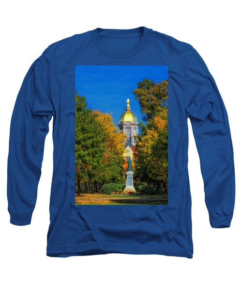 Autumn On The Campus Of Notre Dame Long Sleeve T-Shirt