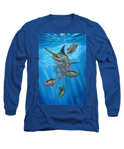 Black Marlin And Albacore Long Sleeve T-Shirt