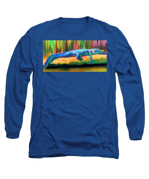 Blue Alligator Long Sleeve T-Shirt