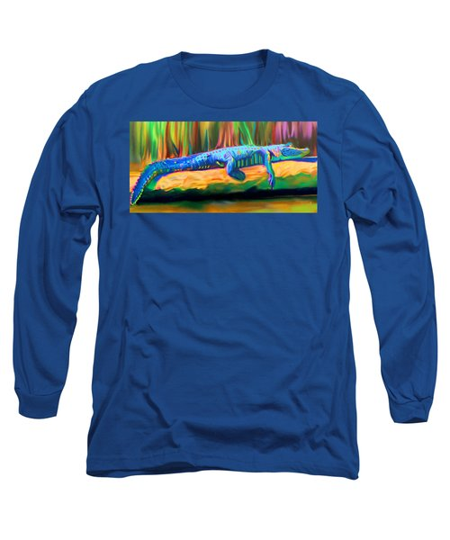 Blue Alligator Long Sleeve T-Shirt