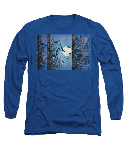 Blue Winter Long Sleeve T-Shirt by Kim Prowse