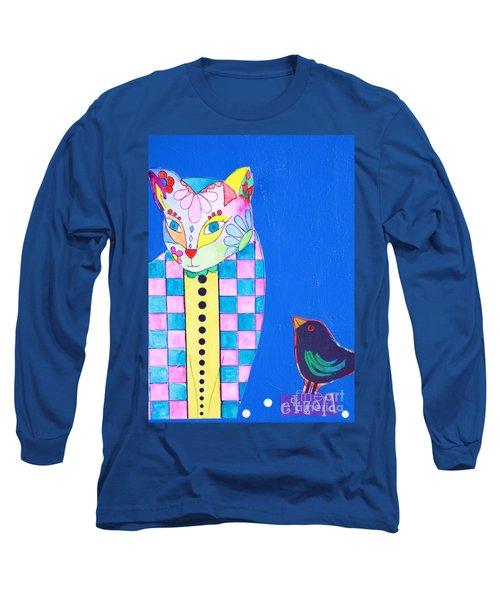 Checkered Cat Long Sleeve T-Shirt