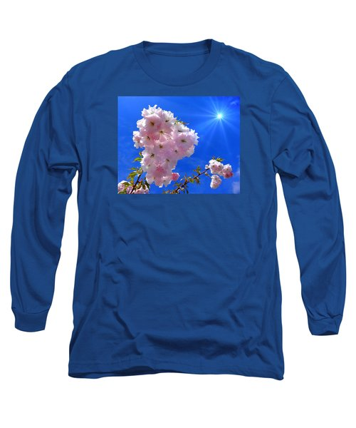 Long Sleeve T-Shirt featuring the photograph Cherry Blossoms  by Nick Kloepping