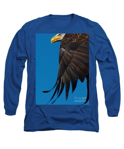 Close-up Of An American Bald Eagle In Flight Long Sleeve T-Shirt