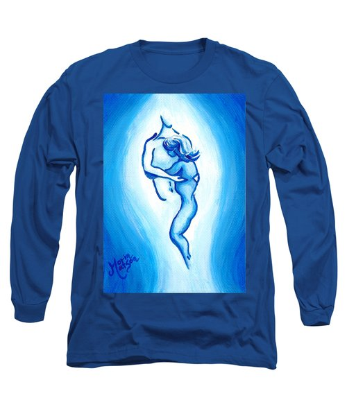 Comfort In Blue Long Sleeve T-Shirt