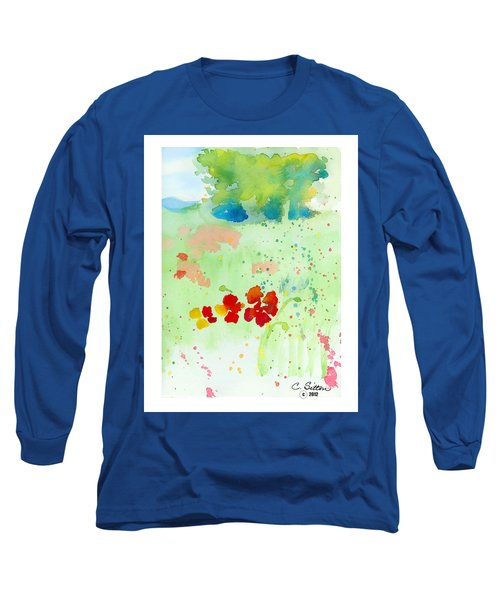 Field Of Flowers Long Sleeve T-Shirt by C Sitton